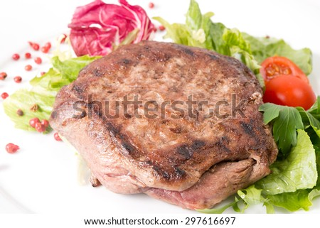 fried meat stake