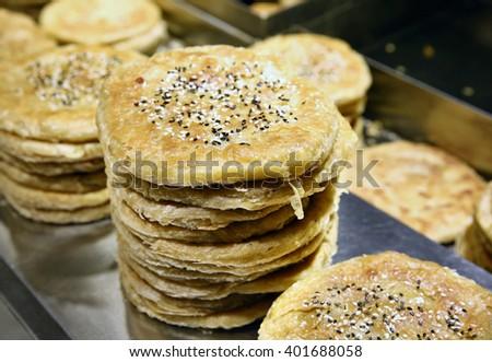 Fried pancakes - stock photo