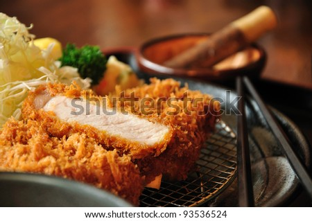 Fried pork Japanese style
