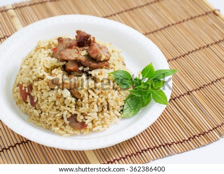 fried pork rice