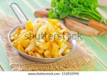 fried potato - stock photo