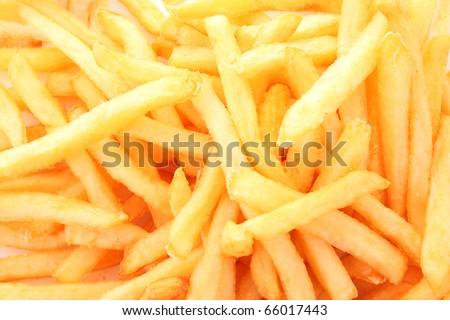 fried potatoes  closeup - stock photo