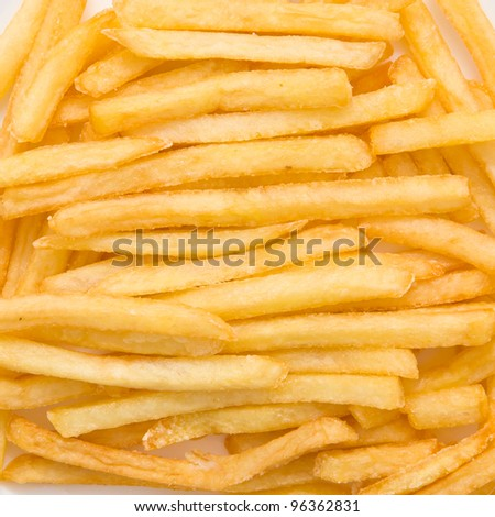 fried potatoes closeup. Background or texture - stock photo