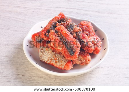 Fried red yeast eel is a popular dish in Taiwan