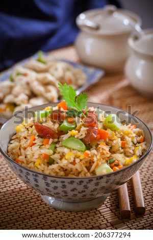Fried rice,asian food - stock photo