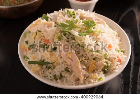 fried rice in a white bowl