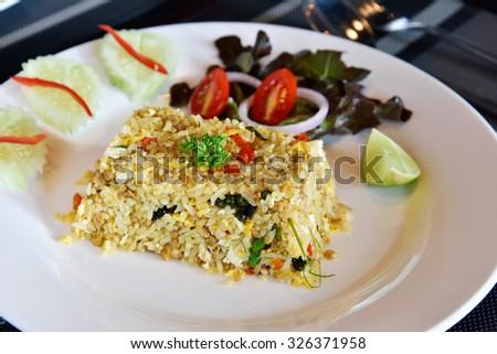 Fried Rice, Thai Style - stock photo