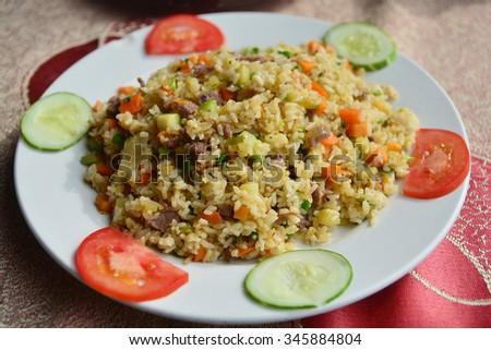 Fried rice,Vietnamese food - stock photo