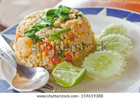 Fried rice with shrimp, Thai food, Thai Restaurant