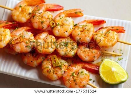 herb shrimp skewers herb garlic shrimp skewers garlic and herb shrimp ...