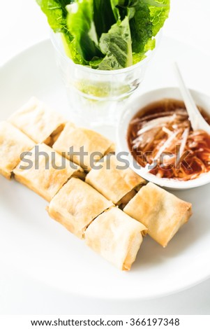 Fried Spring rolls - Selective focus point