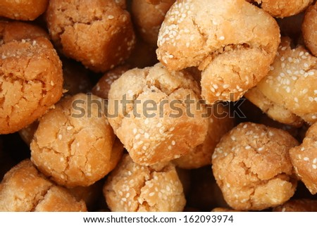 Fried sweet pastry - stock photo