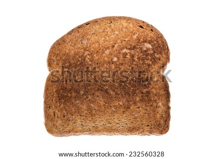 Fried toasts for breakfast sports. On a white background. - stock photo