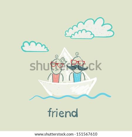 friend - stock photo