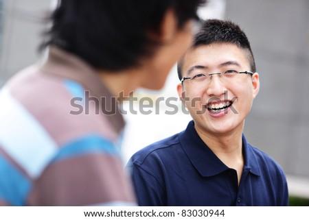 friend chatting - stock photo