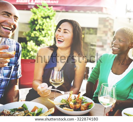 Friend Friendship Dining Celebration Hanging out Concept - stock photo