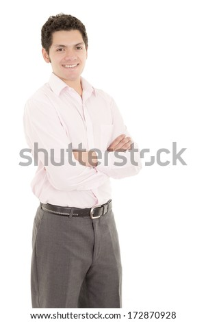 Friendly and smiling businessman hispanic