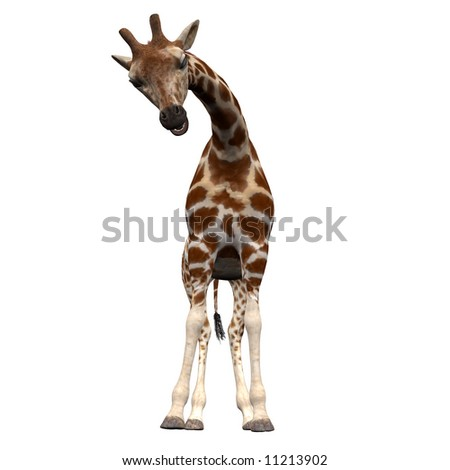 Friendly 3D Giraffe