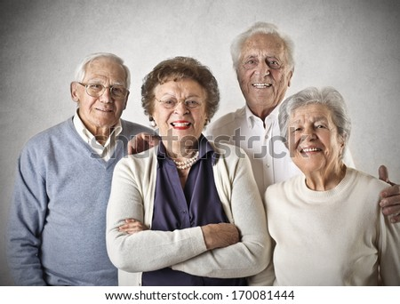 Friendly Oldies - stock photo