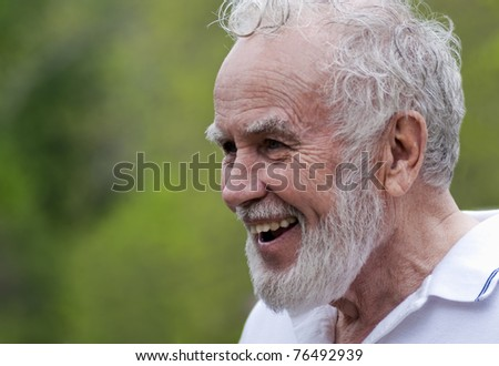 Friendly Senior - stock photo
