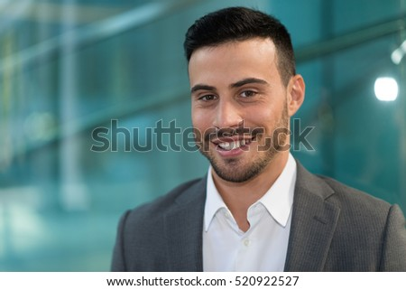 Friendly smiling man portrait
