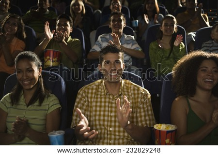 Friends at the Movies - stock photo