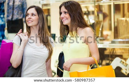 Friends doing shopping together