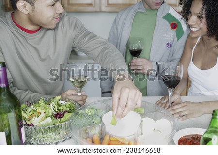 Friends Eating Snacks - stock photo