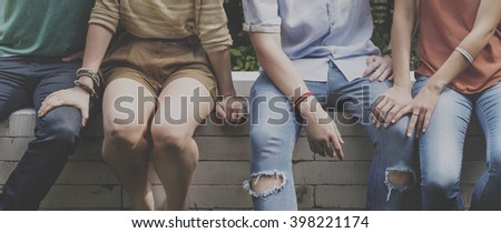 Friends Happiness Enjoying Dinning Eating Concept - stock photo