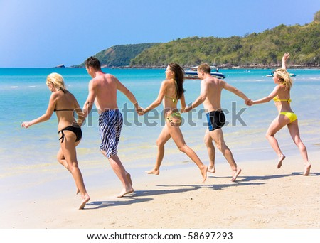 friends having fun - stock photo