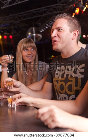 friends having some drinks - stock photo