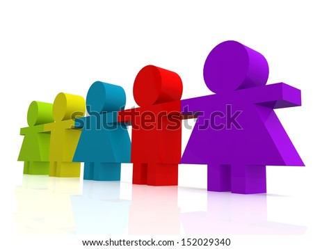 Friends hold hand  - stock photo