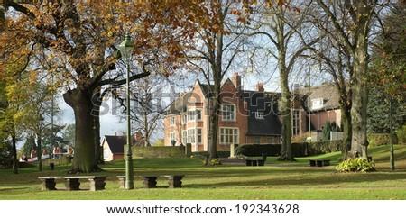 friends meeting house bourneville birmingham midlands england uk - stock photo