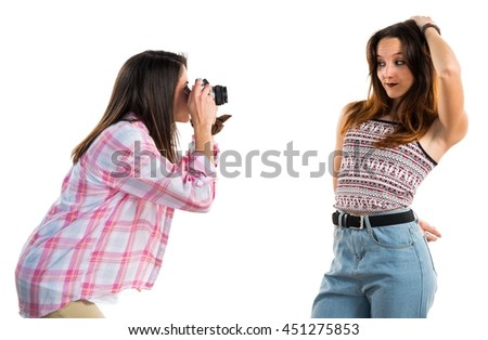 Friends photographing