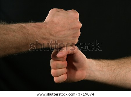 Friends shaking hands