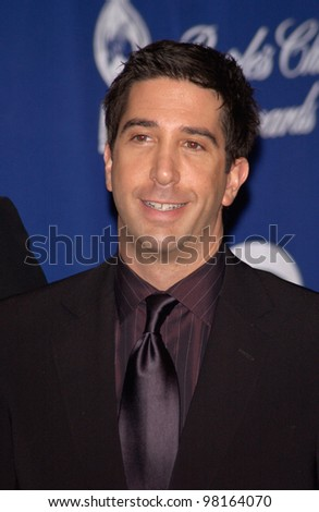 Friends star DAVID SCHWIMMER at the 28th Annual People's Choice Awards in Pasadena. 13JAN2002.  Paul Smith/Featureflash - stock photo