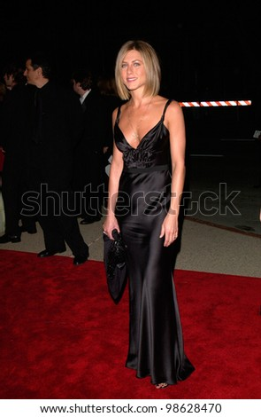 Friends star JENNIFER ANISTON at the 27th Annual People's Choice Awards in Pasadena, California. 07JAN01.   Paul Smith/Featureflash - stock photo