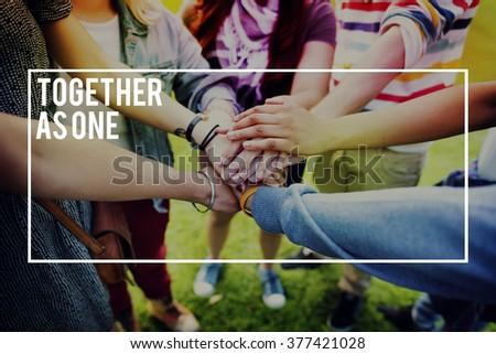 Friends Unity Team Collaboration Teamwork Concept - stock photo