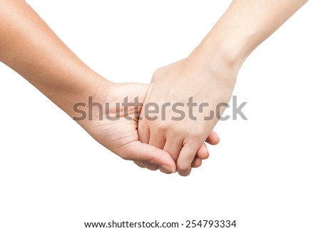 Friendship and love concept between man and woman - stock photo
