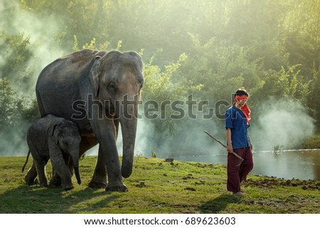Friendship between elephants and people with family relationships.