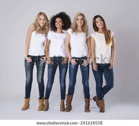 Friendship between girls is very strong - stock photo