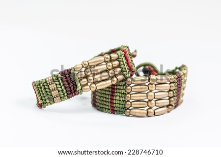 Friendship bracelets - stock photo