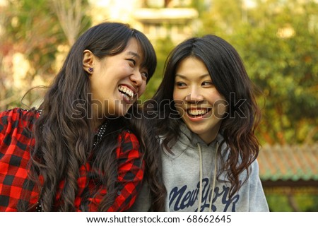 Friendship forever by two Chinese girls