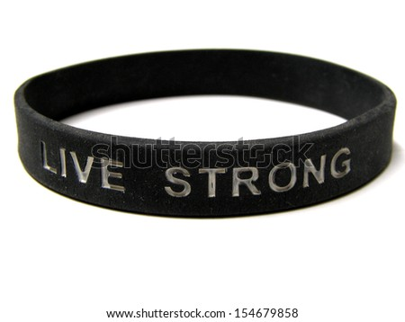 Friendship hand bands with text - stock photo