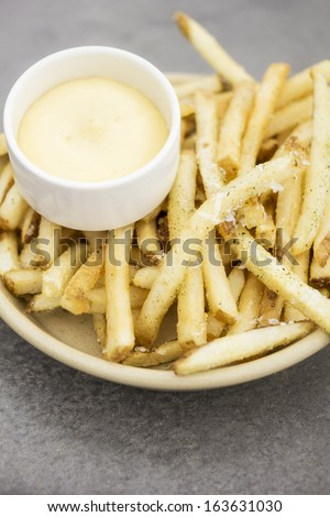 Fries with aioli - stock photo