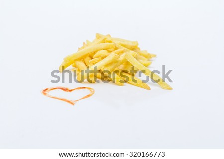 Fries with heart - favorite dish