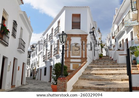 Frigiliana village,Andalusia,Spain - stock photo