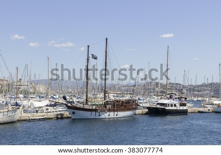 Frioul Harbour in Marseille, France