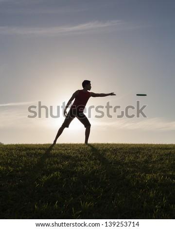 Frisbee fun - stock photo