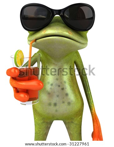 Frog with glasses - stock photo